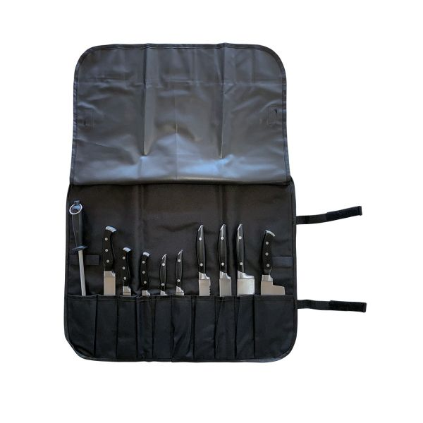 Knife Wrap 10 Pocket Black