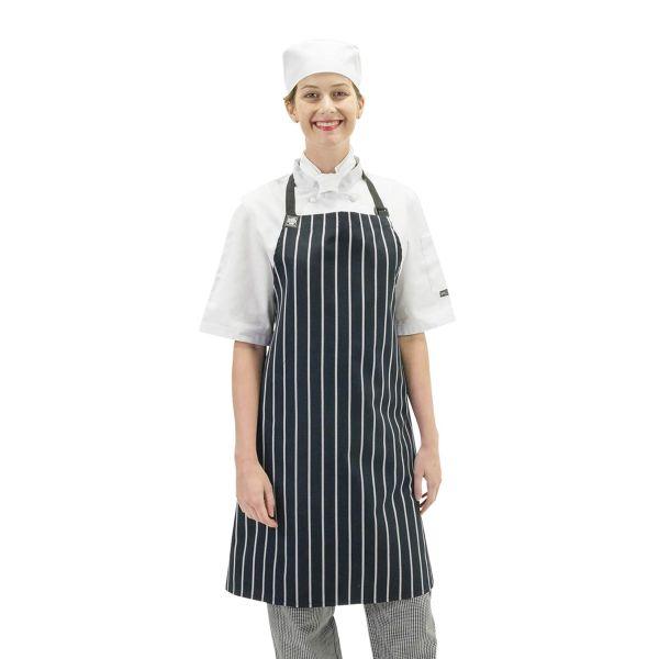 Chef Bib Apron Navy/White