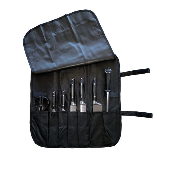 Knife Wrap 7 Pocket Black