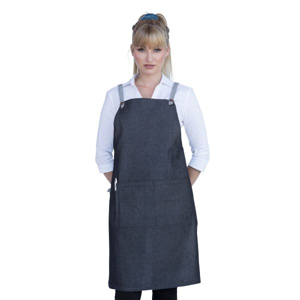 Bella Bib Apron Charcoal Grey-Ash