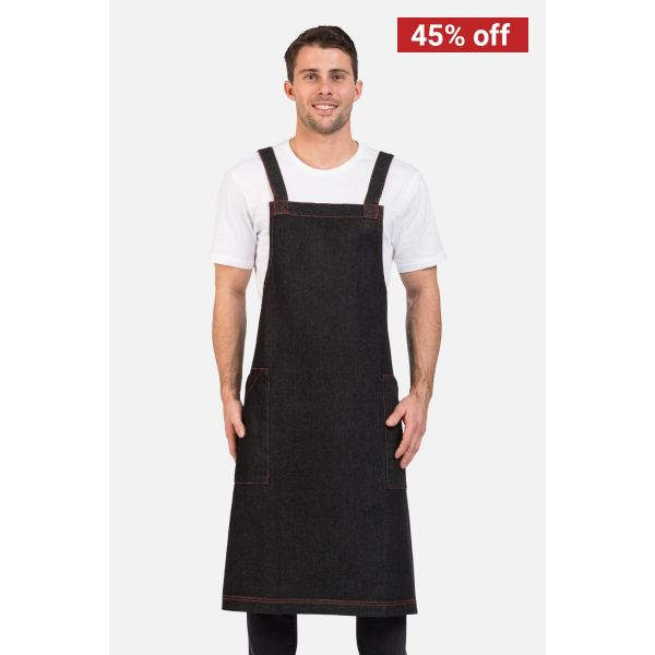 Denim Bib Apron Black