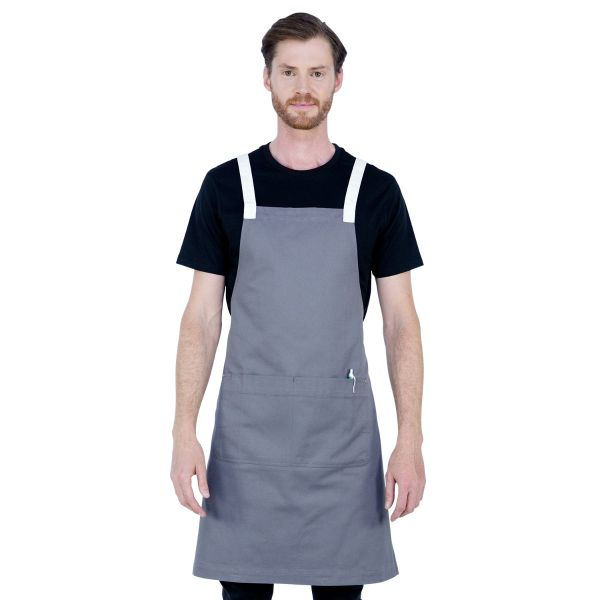 Ice Cream Bib Apron Liquorice Grey
