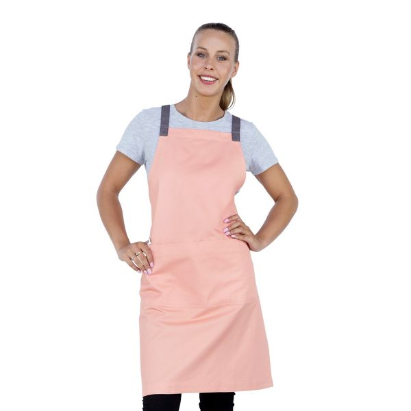 Ice Cream Bib Apron Peach Pink