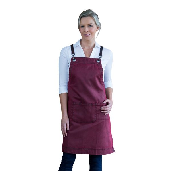 Outback Bib Apron Maple Red