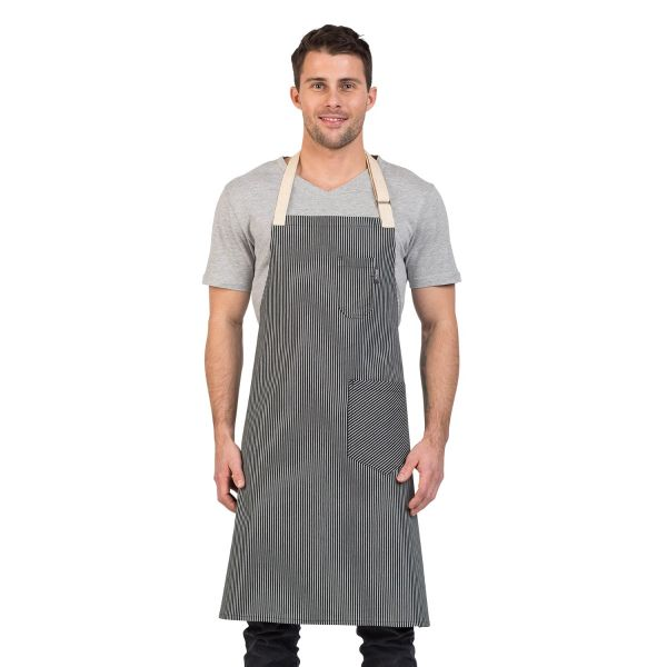 Paris Bib Apron Black