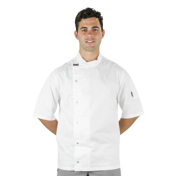 Modern Tunic Chef Jacket White