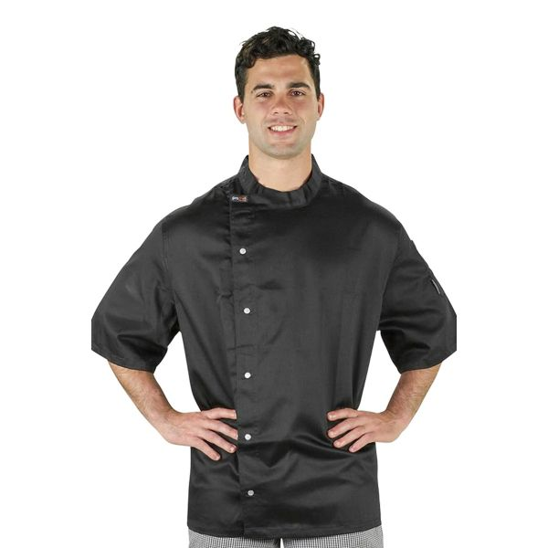 Modern Tunic Chef Jacket Black