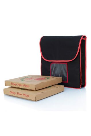 Insulated Food Delivery Bag Black