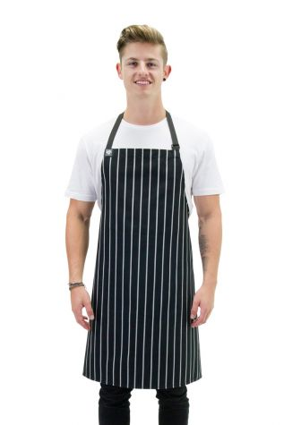 Chef Bib Apron Black/White