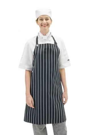 Chef Bib Apron Navy/White