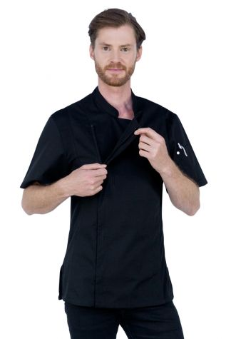 Alex Zipper Chef Jacket Black