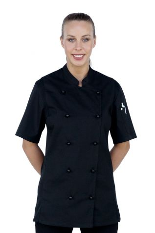 Alex Cool Mesh Chef Jacket Black