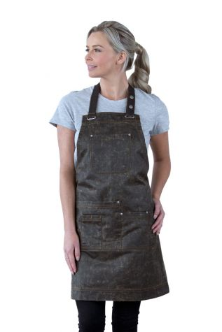 Barber Bib Apron Bronze Brown