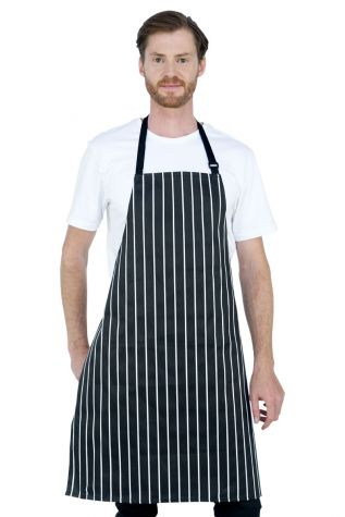 Chef Bib Apron Printed Black/White