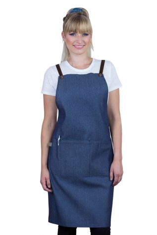 Bella Bib Apron Blue - Chocolate