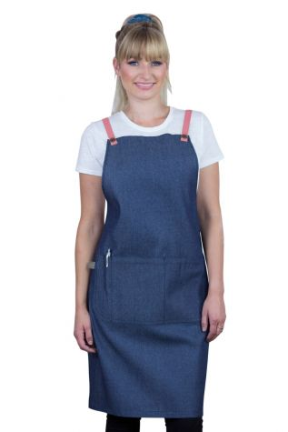 Bella Bib Apron Blue - GrapeFruit