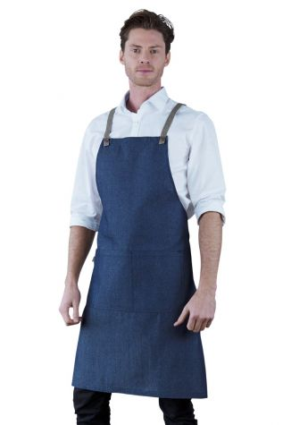 Bella Bib Apron Blue-Latte