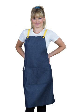 Bella Bib Apron Blue-Lemon