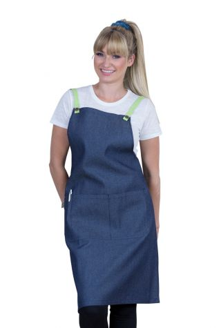 Bella Bib Apron Blue-Lime