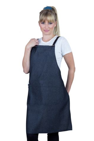 Bella Bib Apron Charcoal Grey-Black