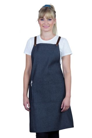 Bella Bib Apron Charcoal Grey - Chocolate