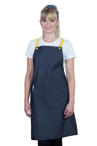 Bella Bib Apron Charcoal Grey - Lemon