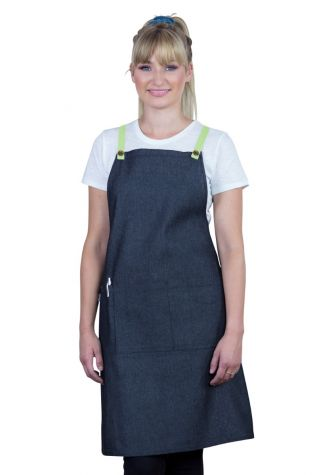 Bella Bib Apron Charcoal Grey - Lime