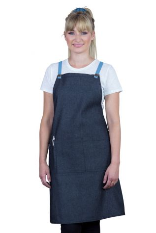 Bella Bib Apron Charcoal Grey - Sky