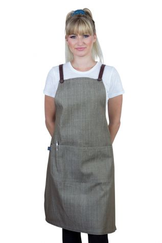 Bella Bib Apron Latte Brown-Chocolate