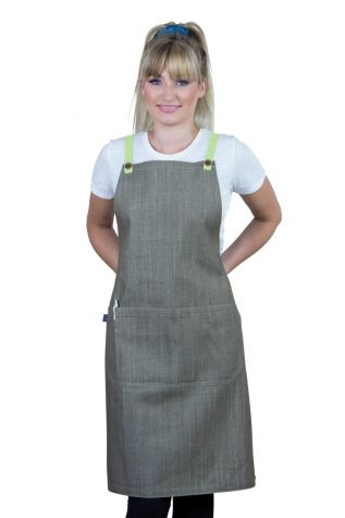 Bella Bib Apron Latte Brown - Lime