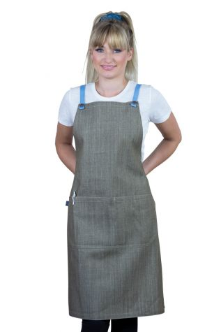 Bella Bib Apron Latte Brown-Sky
