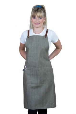 Bella Bib Apron Latte Brown - Tan