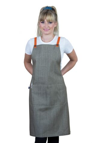 Bella Bib Apron Latte Brown - Tangerine