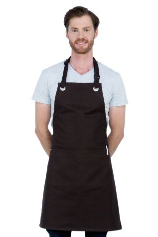 Cantine Bib Apron Chocolate Brown