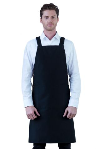 Crossback Bib Apron Black