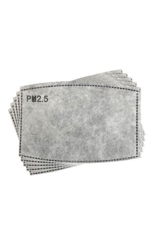 Active Carbon Face Mask PM2.5 Filter (50 Pack)
