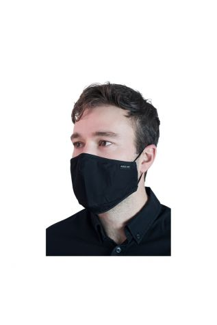Reusable Cloth Face Mask Black with FREE PM2.5 Filter