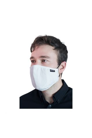 Reusable Cloth Face Mask White with FREE PM2.5 Filter