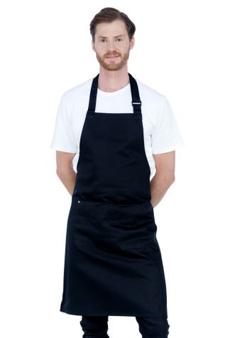 Bib Apron Black Heavy Weight