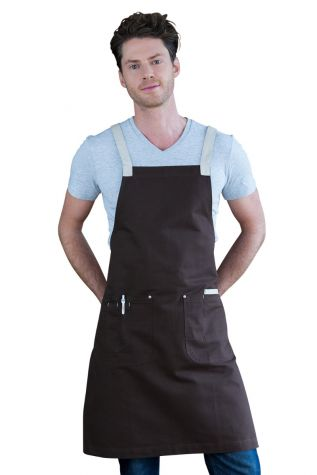 Ice Cream Bib Apron Chocolate Brown