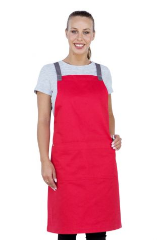 Ice Cream Bib Apron Strawberry Red