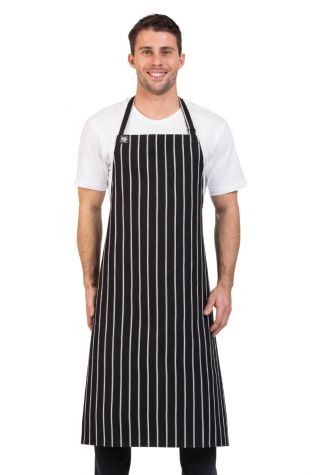 London Bib Apron Black/White