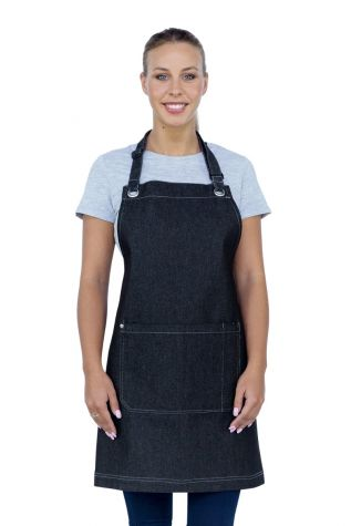 Mia Denim Bib Apron Black