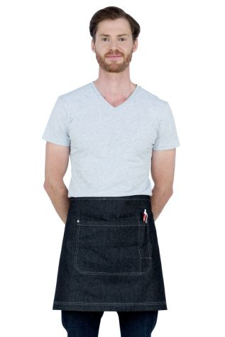 Mia Denim Waist Apron Black