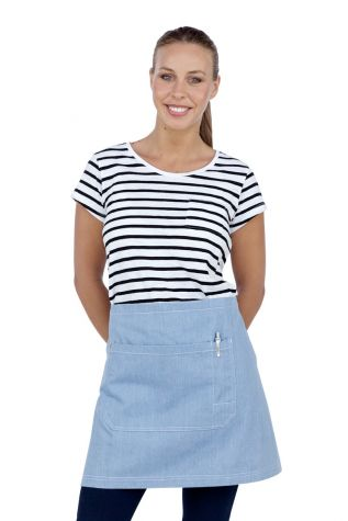 Mia Denim Waist Apron Chambray Blue