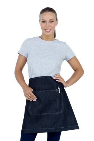 Mia Denim Waist Apron Navy