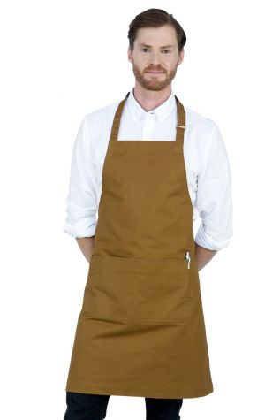 Oska Bib Apron Tobacco Brown