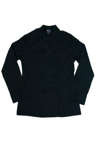 Womens Trad Chef Jacket Black
