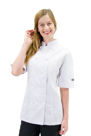 Womens Trad Chef Jacket White