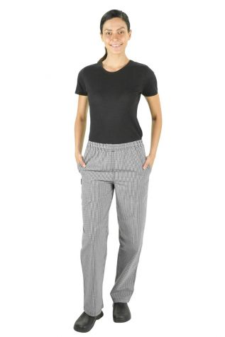 Trad Check Womens Chef Pants